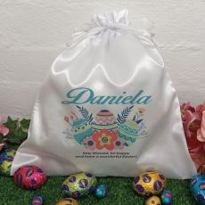 Personalised Easter Sack Hunt Bag 35cm  - Floral