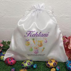 Personalised Easter Sack Hunt Bag 35cm  - Hanging Egg
