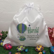 Personalised Easter Sack Hunt Bag 35cm  - Air Balloon