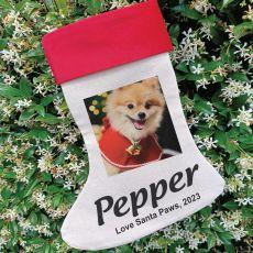 Personalised Pet Photo Christmas Stocking