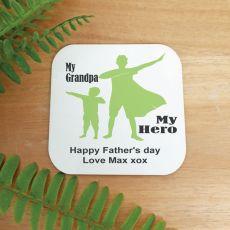 Personalised Grandad My Hero Magnet