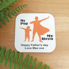 Personalised Pop My Hero Magnet