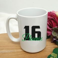 Personalised 16th Birthday Coffee Mug 15oz