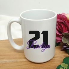 Personalised 21st Birthday Coffee Mug 15oz