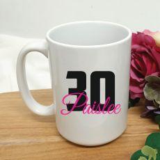 Personalised 30th Birthday Coffee Mug 15oz