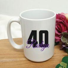 Personalised 40th Birthday Coffee Mug 15oz