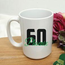 Personalised 60th Birthday Coffee Mug 15oz