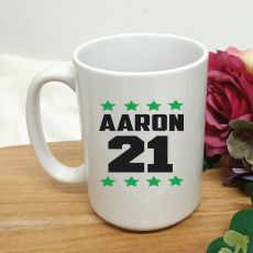 Personalised 21st Birthday Coffee Mug 15oz Star