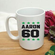 Personalised 60th Birthday Coffee Mug 15oz Star