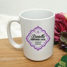 Limited Edition 50th Birthday Personalised Coffee Mug 15oz
