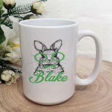 Personalised Easter Coffee Mug - Glasses Bunny