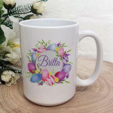 Personalised Easter Coffee Mug - Pink Eggs