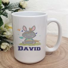 Personalised Easter Coffee Mug - Tribal Bunny