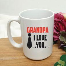 Grandpa I Love You Personalised Coffee Mug 15oz