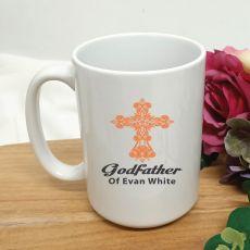 Godfather Coffee Mug Cross Design 15oz