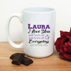 Love You More Each Day Novelty Coffee Mug (F)