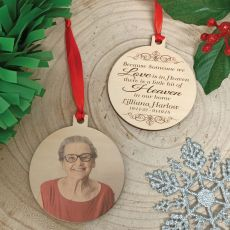 Memorial Christmas Photo Wooden Ornament - Our Home