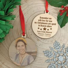 Memorial Christmas Photo Wooden Ornament - In Heaven
