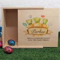 Personalised Wooden Easter Box - Carrots