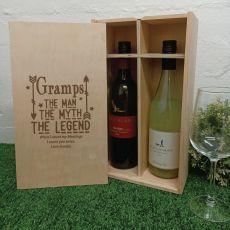 Grandpa The Legend Double Wine Bottle Box