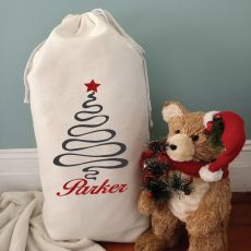 Personalised Santa Sack 80cm - Christmas Tree