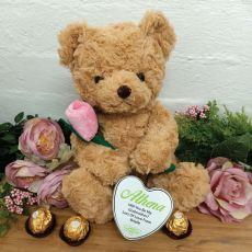 Godmother Bear with Rose and Heart Tin