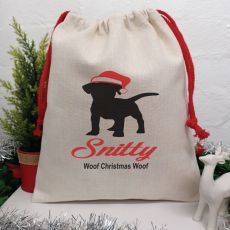 Personalised Pet Christmas Santa Sack 40cm