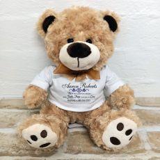 Personalised Baptism Bear Brown Plush - Malcolm