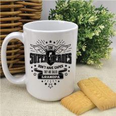 Grandpa SuperHero Cap Personalised Coffee Mug