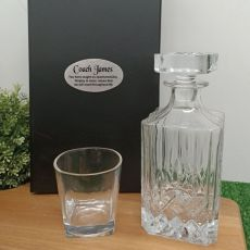 Whisky Decanter & Glass in Personalised Coach Box