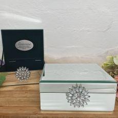Personalised Mirrored Brooch Jewel Box