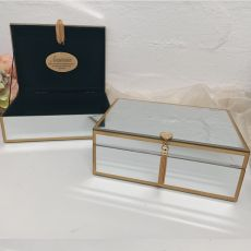 Personalised Glass Jewel Box w/Gold Edge