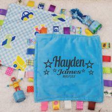 Personalised Baby Taggies Blanket - Transport
