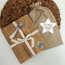 Wedding Oval Bamboo Cheese Board -Shell