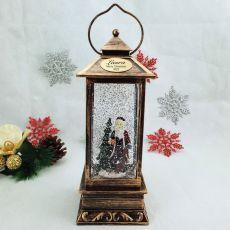 Christmas LED Water Globe Lantern - Santa
