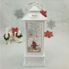 Christmas LED Water Globe Lantern - Cardinal