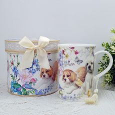 Ceramic Coffee / Tea Cup in Gift Box Puppy Dog