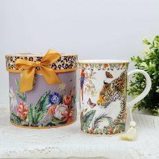 Ceramic Coffee / Tea Cup in Gift Box Leopard