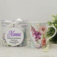 Nana Mug with Personalised Gift Box Hummingbird