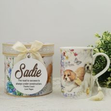 Coach Mug with Personalised Gift Box Puppy Dog