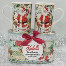Christmas Mugs in Personalised Box