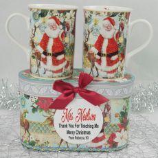 Teacher Christmas Mugs in Personalised Box