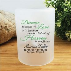Personalised Memorial Tea Light Candle Holder - Heaven in our Home