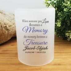 Personalised Memorial Tea Light Candle Holder - A Treasure