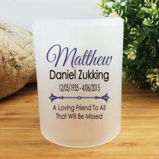 Personalised Memorial Tea Light Candle Holder