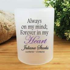 Personalised Memorial Tea Light Candle Holder - My Heart