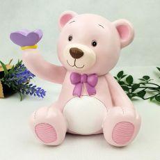 Pink Teddy Ceramic Money Box