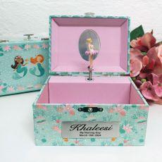 Naming Day Mermaid Music Jewelley Box