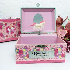 Personalised Unicorn Music Jewelley Box