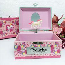 Birthday Unicorn Music Jewelley Box